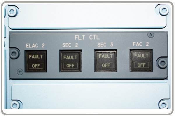 First Officers flight control panel